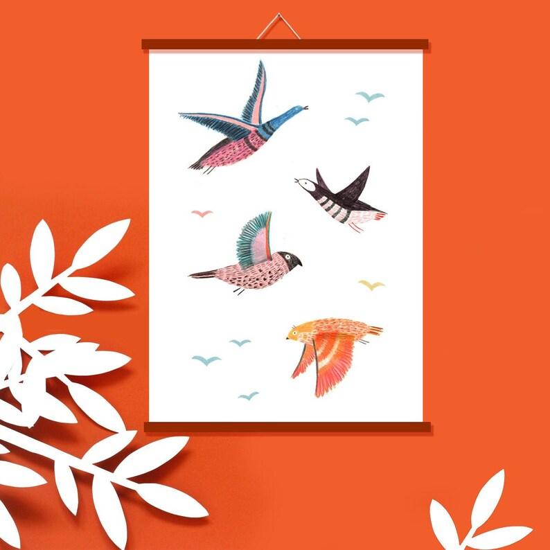 Poster  Art Print  Wild birds image 0