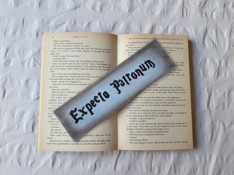 Harry Potter Expecto Patronum Spell Bookmark