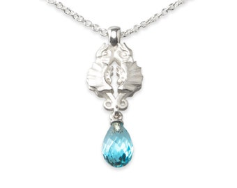 necklace with pendant: phoenix - sterling