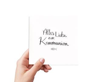 handmade greeting card: communion card