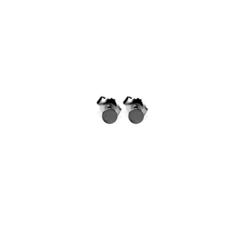 earrings: studs dots small  black image 0