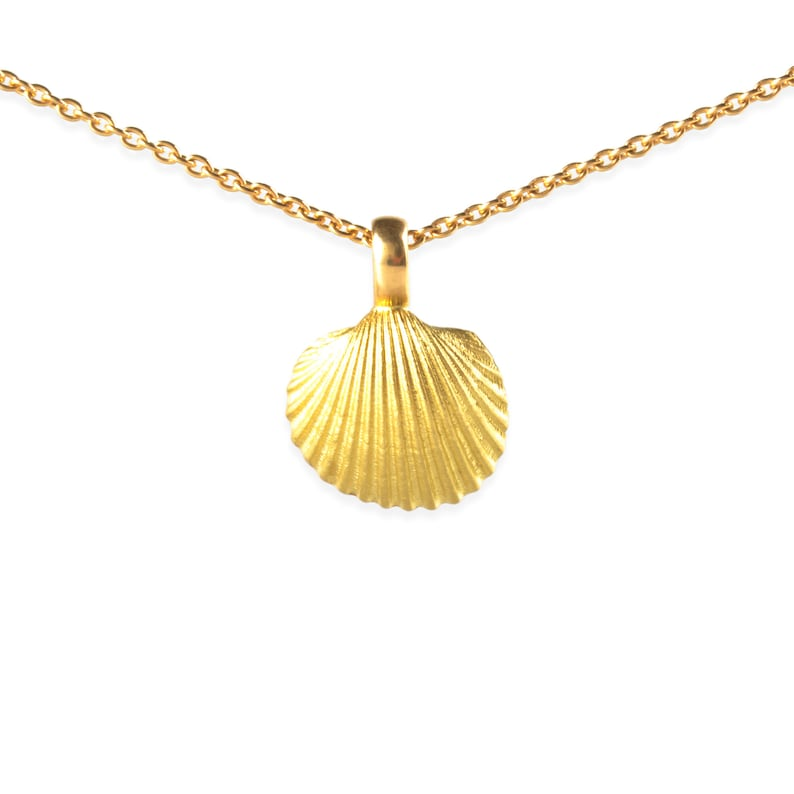 necklace with pendant: sea shell  18k gold image 0
