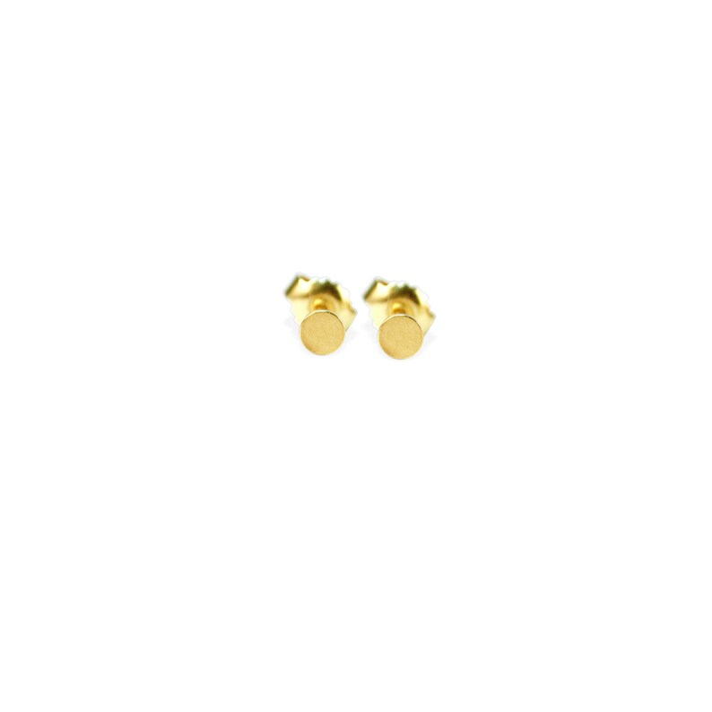 earrings: studs dots small  18k gold image 0