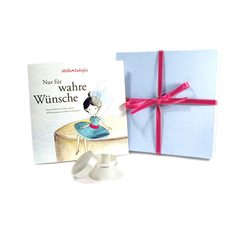 tooth fairy gift: children's book and sterling tooth box image 0