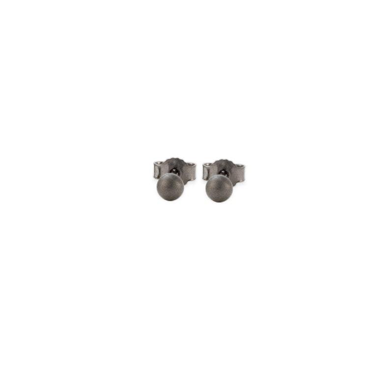 earrings: studs ball small  black image 0