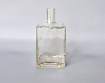 Vintage Klar Glas Blumenvase, Herzstück Vase, Tisch Würfel Glas Vase,  Quadratische Glas Moderne Vase, Blume Blumenstrauß Flasche, Retro Glaswaren