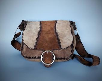 8ba0527dd2 Suede patchwork bag | Etsy