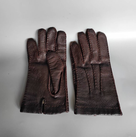Vintage Genuine Leather Handmade Gloves Accessorie