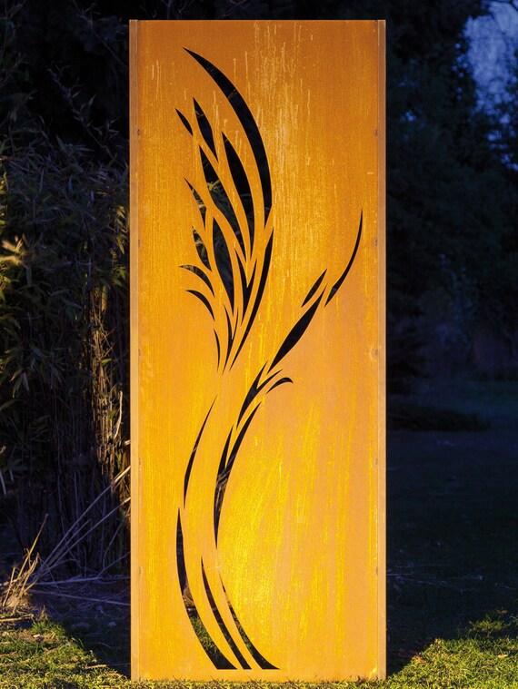 Gartenwand Sichtschutz Wand Rehkitz Stahl rost 75x195 cm