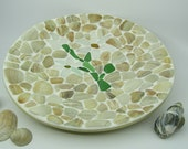 Deco plate with shell mosaic