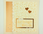 Greeting card to the wedding, square