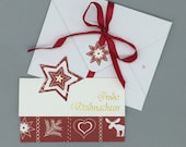 "Cash gift card ""Merry Christmas"" for voucher cards or banknotes"