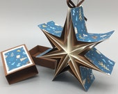 "Star-in-the-box ""Winter Magic,"" the Christmas gift from the matchbox for hanging"