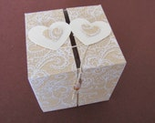 "Gift box ""Heart and heart united together,"" for loving trifles to engagement, wedding, anniversary or Valentine's Day"