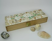 Wooden box with shell mosaic