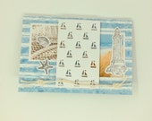 Maritime greeting card, in c6 format across
