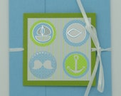 "Greeting card ""for baptism"" with plug for money or vouchers and double lid"