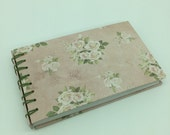 """Notebook """"Rosa,"""" hand-tied, for all thoughts, verses, sayings, sketches to be captured."""