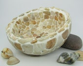 Decorative bowl with shell mosaic
