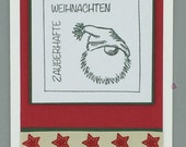 "Greeting and gift card ""Magical Christmas""-with Wichtel motif"