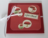 "MiniAlbum card ""Good luck"" with mushroom motif, ideal for cash gifts or vouchers as well as photos"
