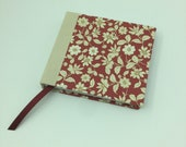 "Notebook ""Flowers,"" hand-tied, for all thoughts, verses, sayings, sketches to be captured."