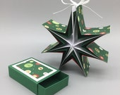 "Star-in-the-box ""Winter Circles,"" the Christmas gift from the matchbox for hanging"