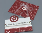 "Cash gift card ""Merry Christmas"" with plug for banknotes or voucher cards"