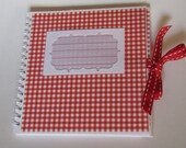 "Notebook ""Red Carried,"" upcycling article from a calendar, for ideas, thoughts, recipes, addresses, important and unimportant"