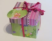 "Explosion Box ""Little Fairy"" with many pages for photos, greetings, verses, vouchers"