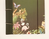 "Note-and collectible book ""Jungle"" for recipes, photos, verses and anything that can be collected in a book"