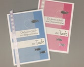 "Greeting card ""The best wishes for happiness and blessings for baptism,"" hochkant"