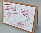 "3D Greeting Card ""Merry Christmas Stars"""