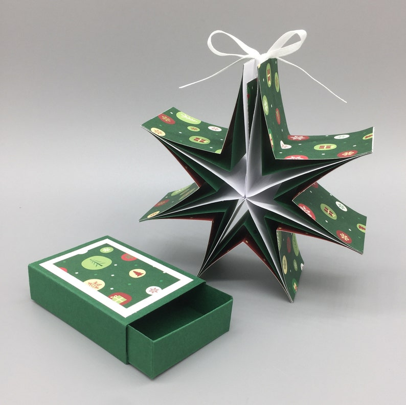 Star-in-the-box Winter Circles the Christmas gift Green