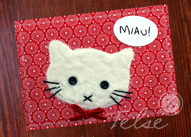 Postcard Meow Cat