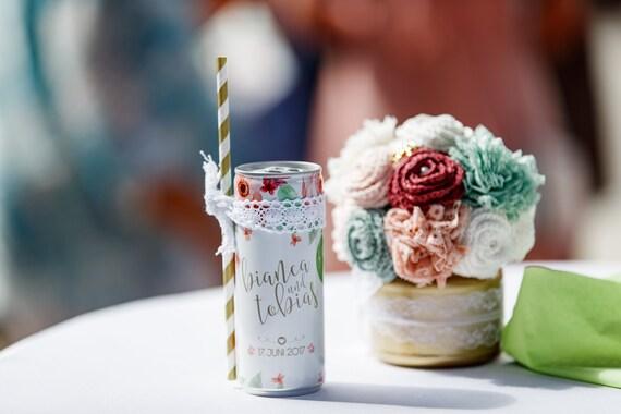 Getränkedosen im Blumendesign | 24 Stück