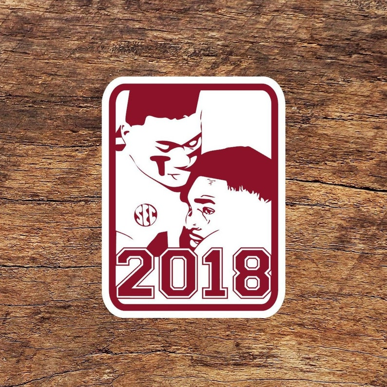 Alabama Sticker, SEC Champs Tua and Jalen Phone Decal, Laptop Sticker