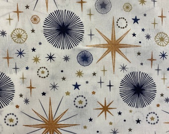Cotton fabric with Christmas motif
