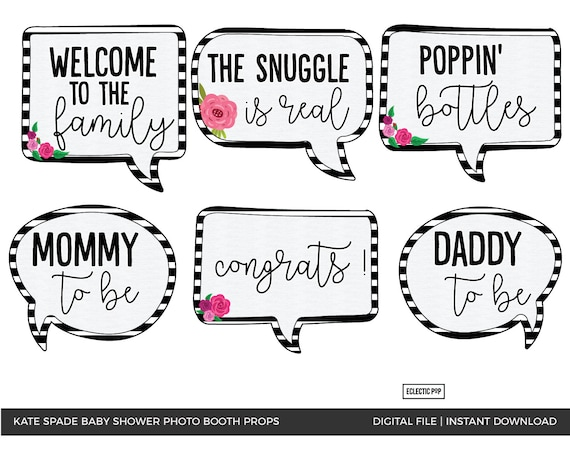 Printable Photobooth Props It/'s a Boy Baby PhotoBooth Props Baby Shower Black Gold Photo Booth Props Black Gold Printable Props