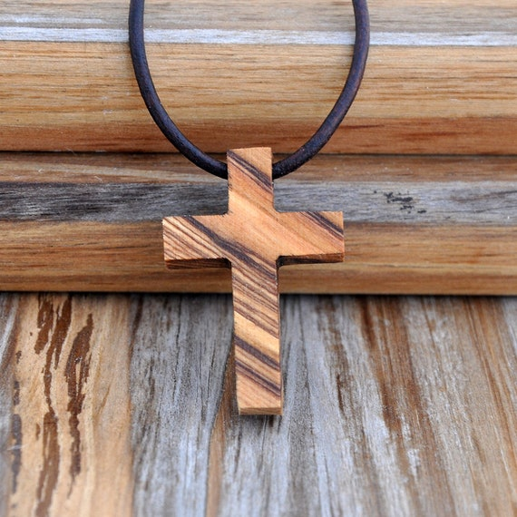 Bethlehem Olive Wood Cross Necklace