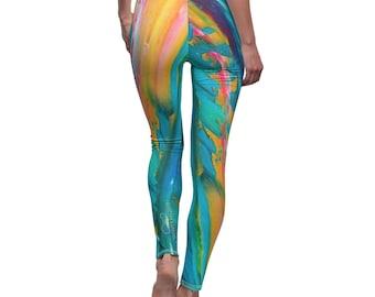 fitness leggings for her, birthday gift for bestie, yoga leggings women, womens active wear, bohemian clothing women, dance leggings, best