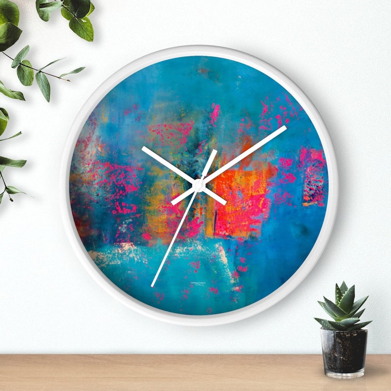 abstract wall clocks beach house decor kids playroom decor image 1