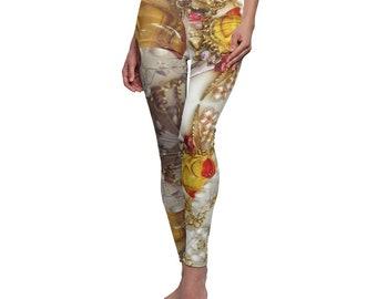 Rubber Duck Grey White Tone Pshychedelic Women's Cut & Sew Casual Leggings