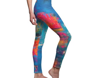 Fashion leggings for her, unique gift for her, womens shapewear, festival clothing women, womens tights, nautical, teens clothing, rare