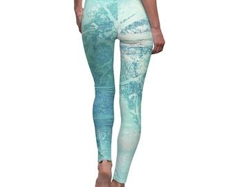 fitness leggings for her, birthday gift for bestie, yoga leggings women, active wear women, fitness leggings, colorful leggings, art,