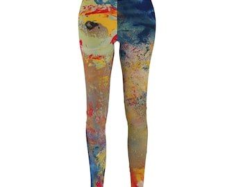 abstract leggings, yoga leggings women, slimming pants, boho clothing women, best friend birthday gifts for her, workout clothes for women