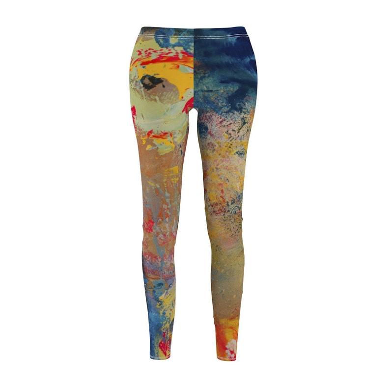 abstract leggings yoga leggings women slimming pants boho image 1