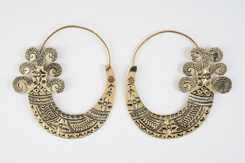 Brass Earrings Jarita