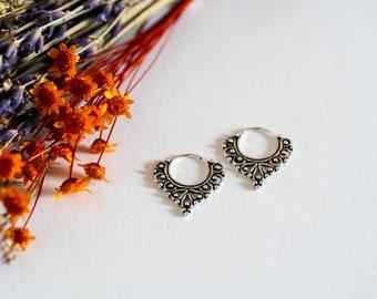 Ethno Earrings Silver Septum Boho Hoops