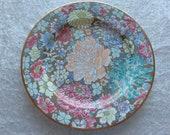 Vintage Chinese Milli Fleur Enameled Plate - 20th Century - QIANLONG MARK